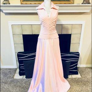 Tadashi Cotton Candy Pink Gown Dress 10